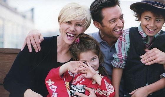 Хью Джекман с детьми